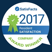 2017 Satisfacts Resident Satisfaction National Company Award